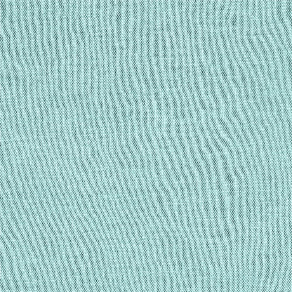 Silky Rayon Jersey Knit Solid Light Aqua Fabric By The Yard