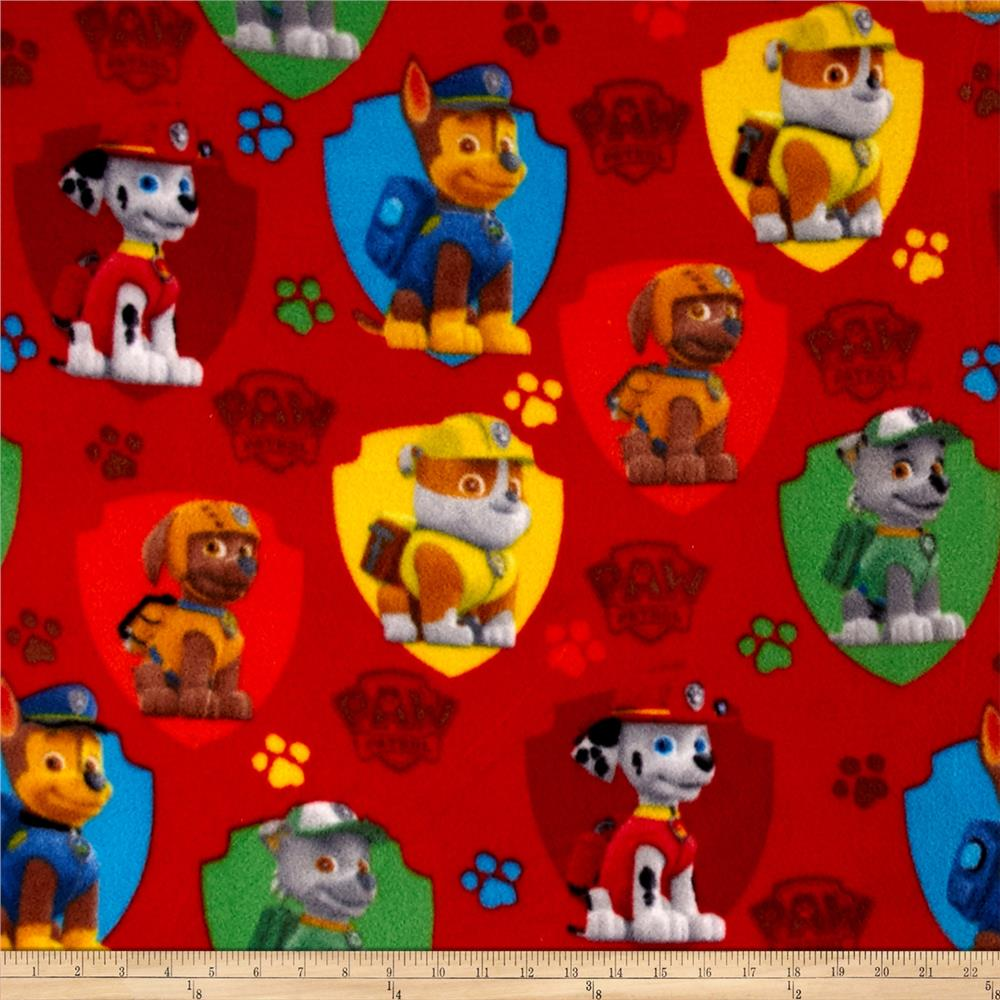 Paw Patrol Fleece Shields Red