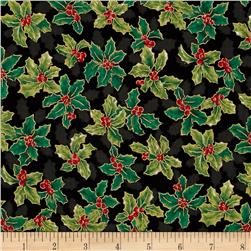 Lecien Winter Gift Elegant Holly Black