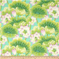 Kaffe Fassett Collective Lake Blooms Green
