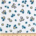 Paradise Tossed Flower Blue/White