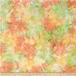 Batavian Batiks Curling Leaves Orange/Pink
