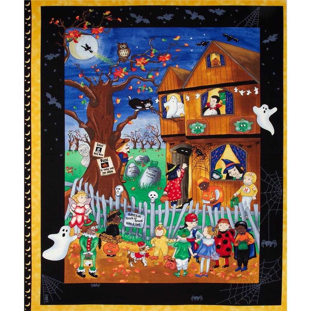 Spooky Eve Halloween Panel Black