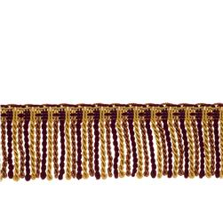 "Fabricut 2.5"" Porch Swing Bullion Fringe Sangria"