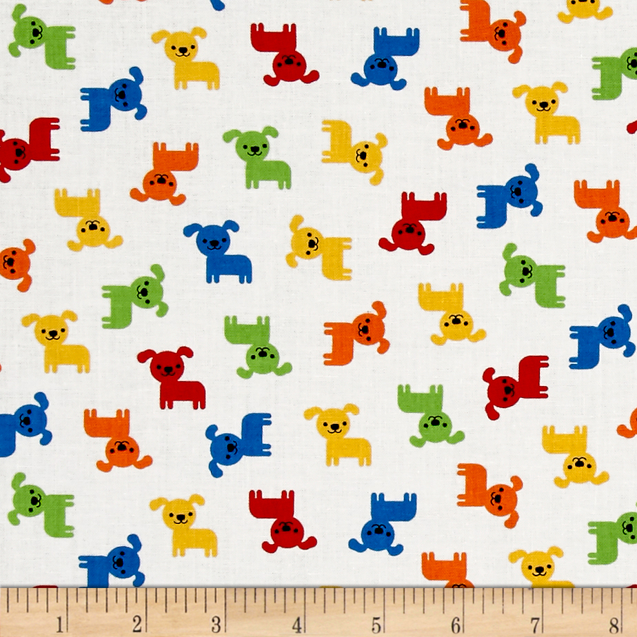 Kaufman Urban Zoology Minis Dogs Primary Fabric