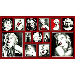 Hollywood Icons Panel Marilyn Blocks Red