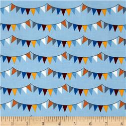 The Circus Bunting Stripe Vintage Blue