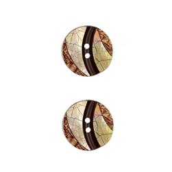 Shell Button 3/4'' Luminousity Brown