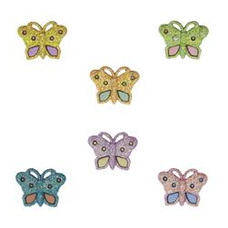Dress It Up Embellishment Buttons  Pastel Butterflies