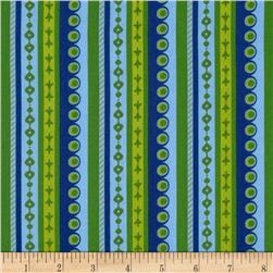 Boho Girl Stripe Blueberry/Lime