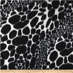 Fleece Animal Skin Print Black/White