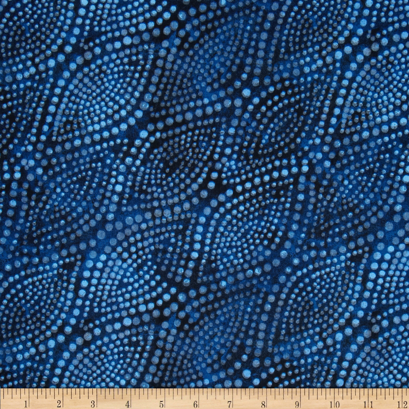 108'' Wide Diagonal Dots Quilt Back Navy Fabric