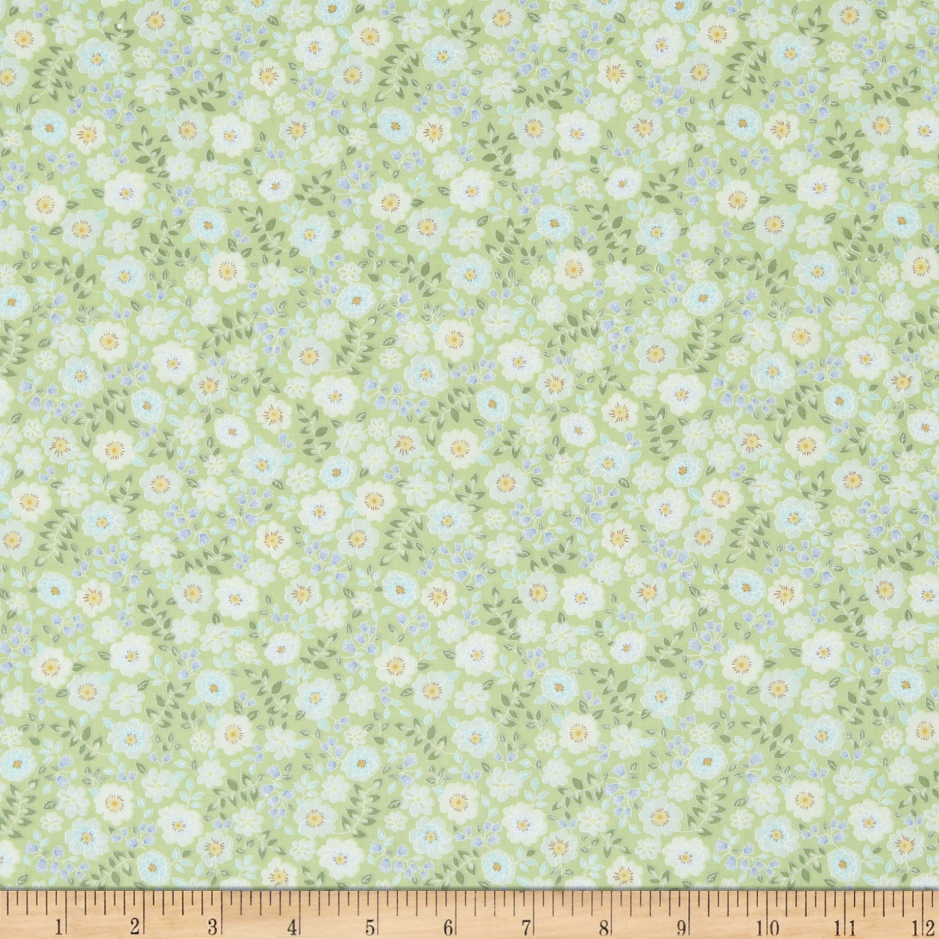 INOpets.com Anything for Pets Parents & Their Pets In The Beginning Fabrics Garden Delights II Garden Blooms Green