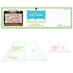 "Lori Holt Hexie Half Ruler Kit 10"", 5"""