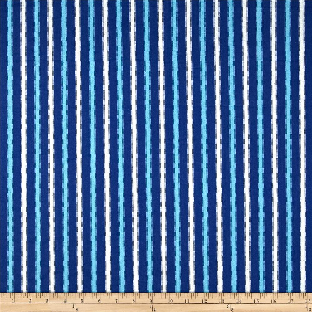 Home Accents Tangiers Stripe Porcelain/Blue
