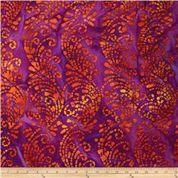 Indian Batiks Abstract Purple