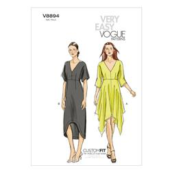 Vogue Misses' Dress Pattern V8894 Size 0Y0