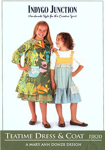 Indygo Junction Girls Teatime Dress & Coat Pattern