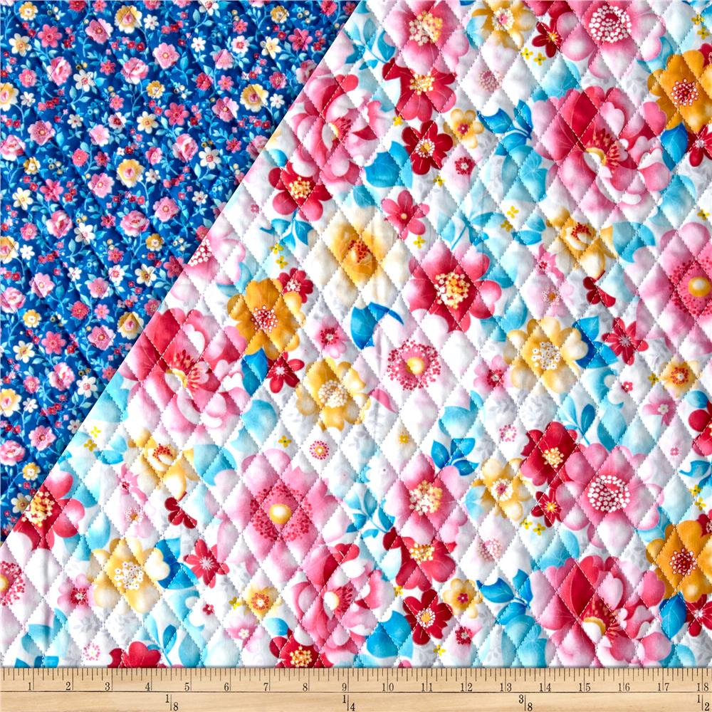 Sweetness Double Sided Quilted Pink/Blue Fabric