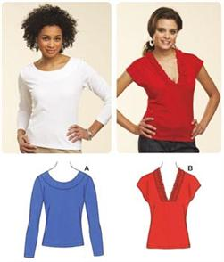 Kwik Sew Pull-Over Close Fitting Tops Pattern