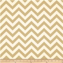 Premier Prints Zig Zag Khaki/Natural Fabric