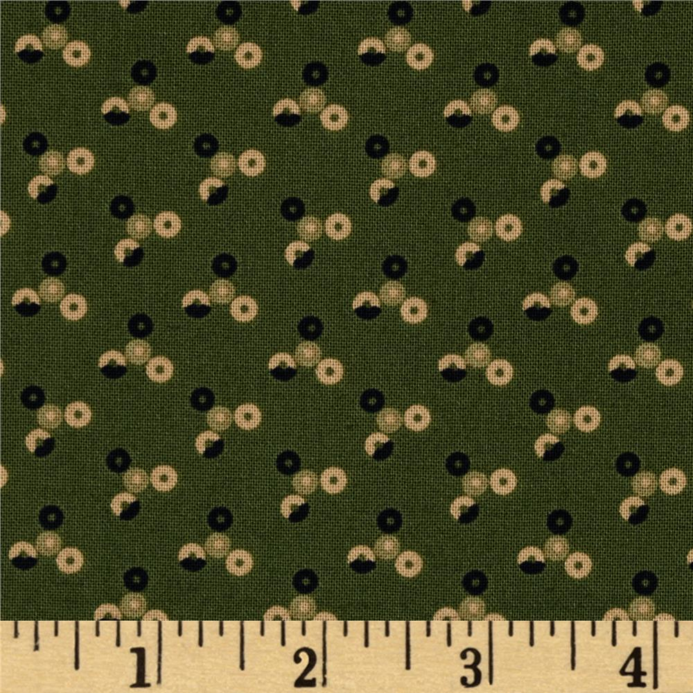 Scrap Happy Tri-Dot Green
