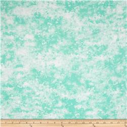 Rayon Jersey Knit Abstract Mint/White