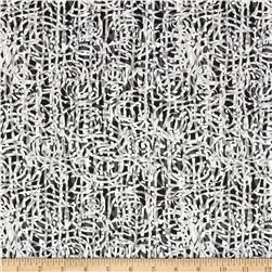 Fabrique-istan Raffia Black/White Fabric