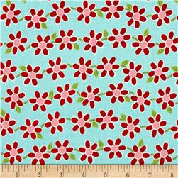 Bugsy Whimsy Flower Aqua