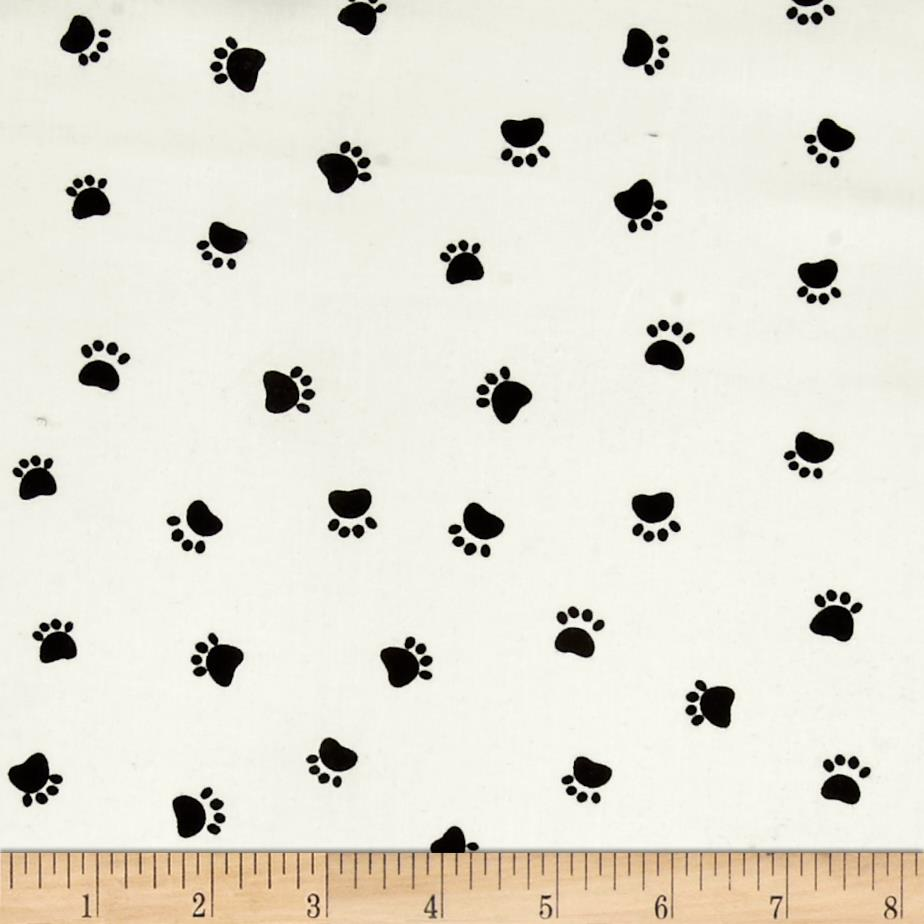Dog's World Paw Prints Cream