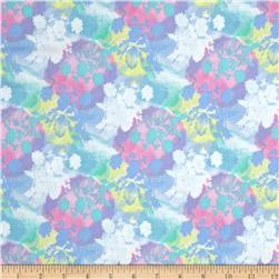 Belle Uccello Floral Watercolor Silouettes Multi