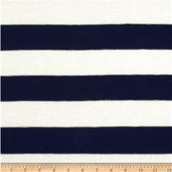 Hatchi Sweater Knit Stripes Navy/Ivory