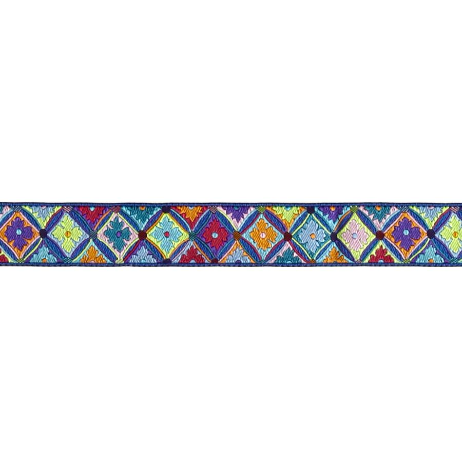 "7/8"" Kaffe Fasset Antwerp Flowers Blue"
