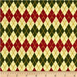 Christmas At Home Argyle Cream/Multi