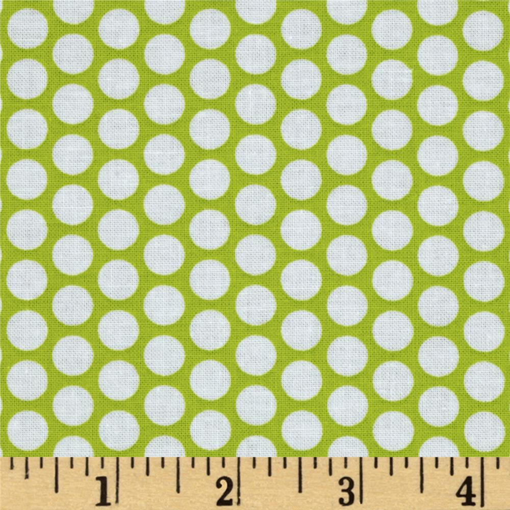 Riley Blake Honeycomb Dot Lime/White