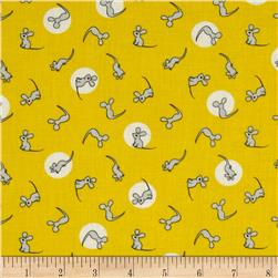 Goodnight Moon Organic Mouse Yellow Fabric