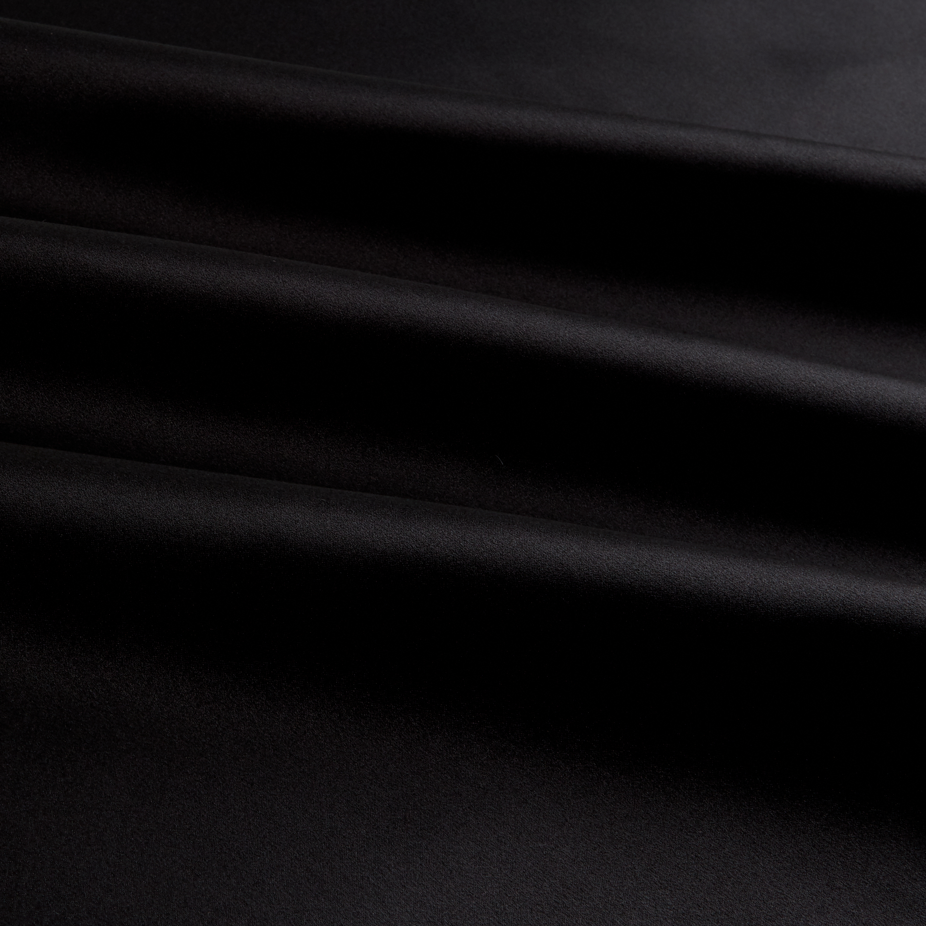 Image of 100% Silk Charmeuse Black Fabric