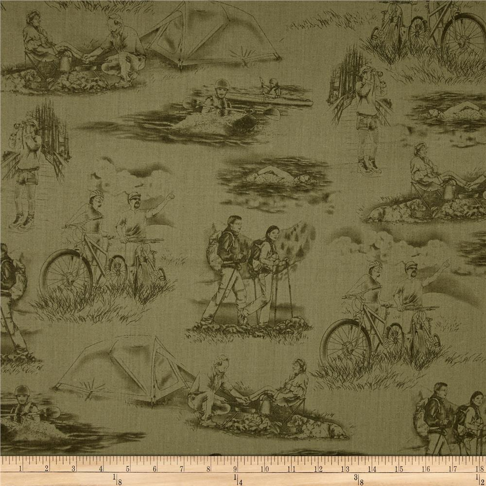 Our National Parks Toile Green