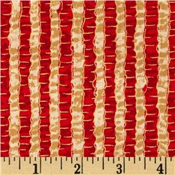 Jolly Old St. Nick Metallic Stripe Red