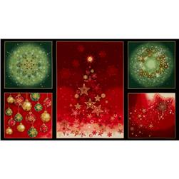 Robert Kaufman Radiant Holiday Metallic 24 In. Panel Holiday
