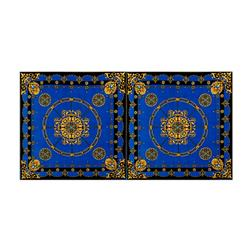 ITY Knit Medallion Double Border Print Royal