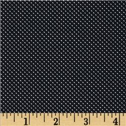 Morocco Blues Stretch Poplin Pin Dot Navy Blue/White