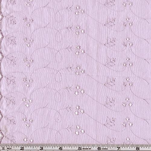 Lightweight Embroidered Eyelet Lilac