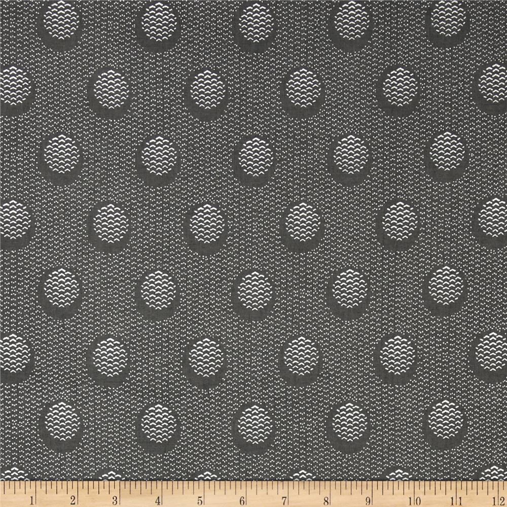 The Steel Collection Abstract Dots Grey/Silver