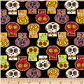 Horror Scope Large Skulls Black