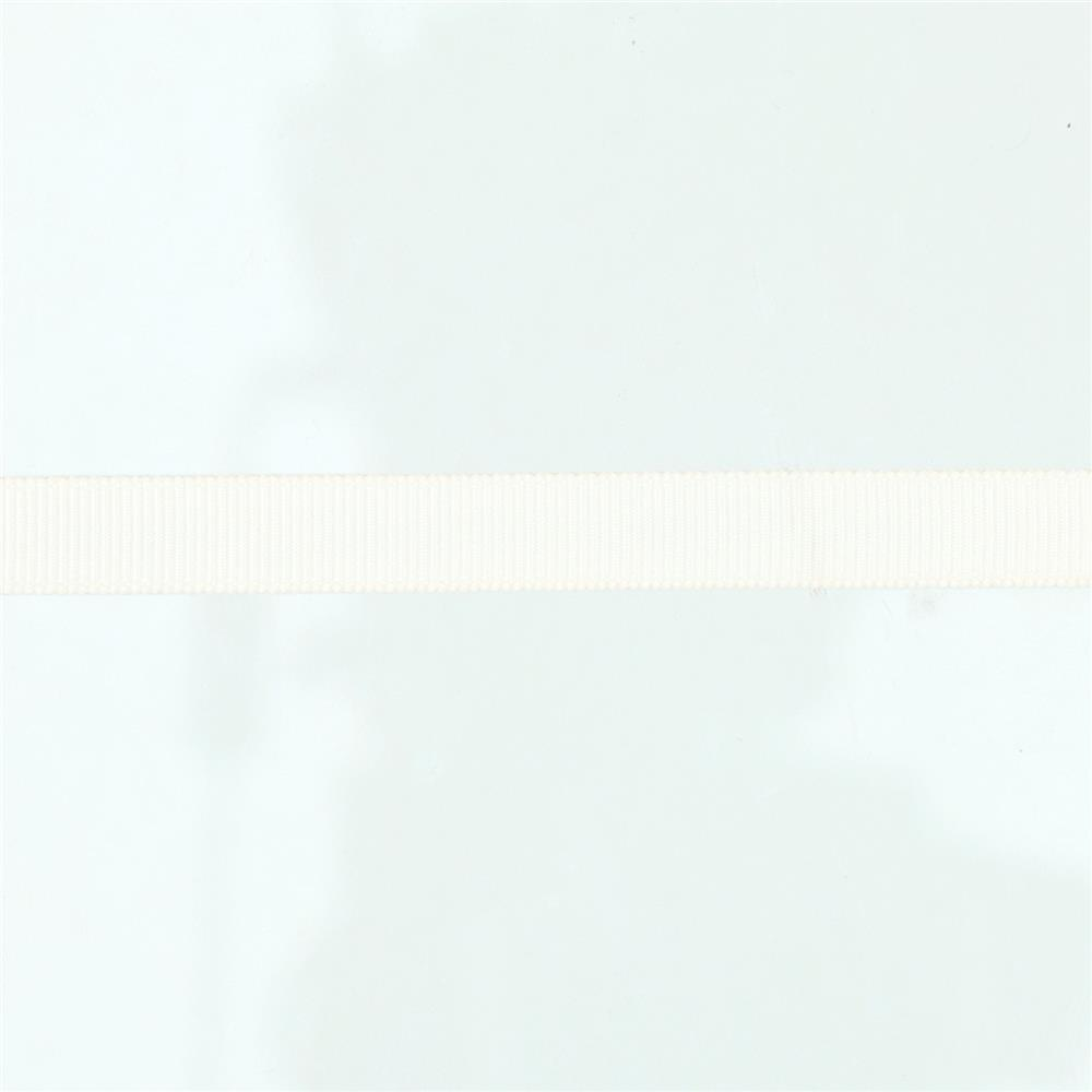 "May Arts 3/8"" Grosgrain Ribbon Spool Ivory"