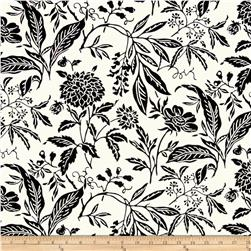 Madison Home Decor Mia Floral White/Black