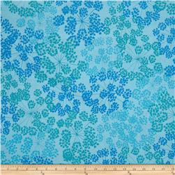 "Kaufman Blueprint Basics 108"" Wide Spray Turquoise"