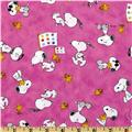 Peanuts-Project Linus Snoopy & Woodstock Toss Pink