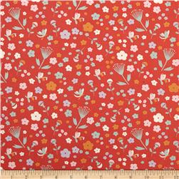 Birch Organic Yay Day Pretty Floral Coral